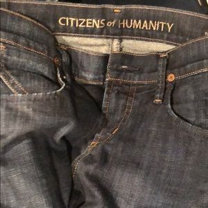 Citizens of humanity cropped cuffed jeans 27